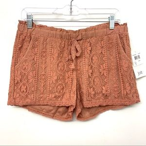 Jolt Orange Lace Summer Elastic Waist Shorts 9 29